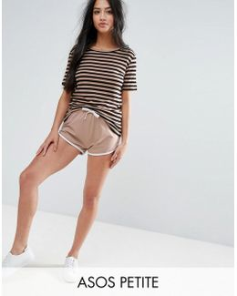 Basic Runner Shorts With Contrast Binding