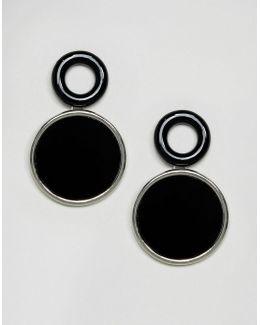 Clean Tube And Resin Hoop Earrings