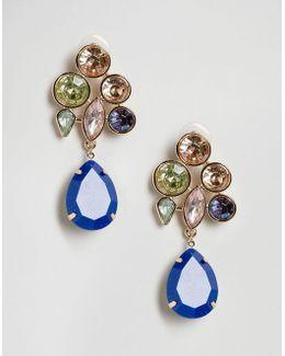 Color Pop Gem Drop Earrings