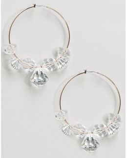 Resin Bead Hoop Earrings