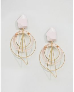 Statement Nugget Multi Hoop Earrings