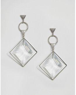 Faceted Shard Open Shapes Earrings