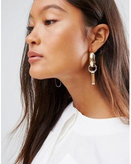 Open Shape Link Earrings