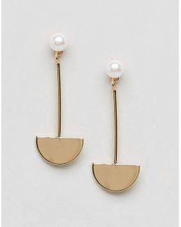 Pearl Semi Circle Earrings
