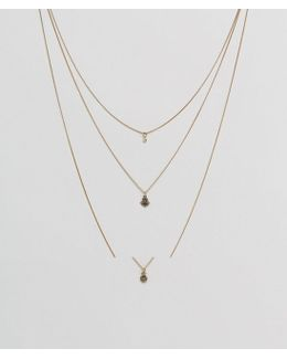Hamsa Multirow Necklace