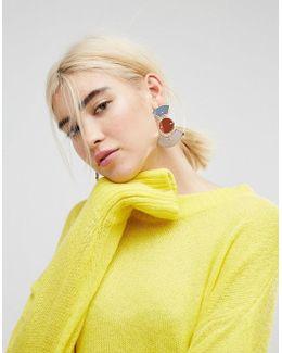Geo Coloured Mirror Earrings