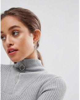 Sleek Minimal Open Circle Earrings