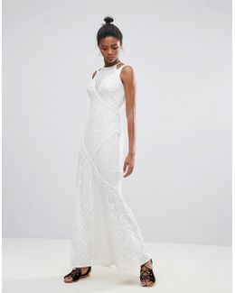 Rene Lace Print Maxi Dress