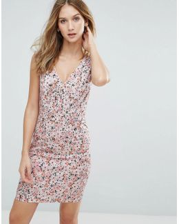 Bacongo Daisy Printed Fitted Dress