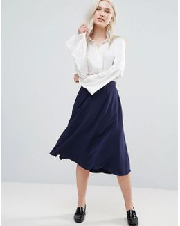 Rikki Crepe Flared Skirt