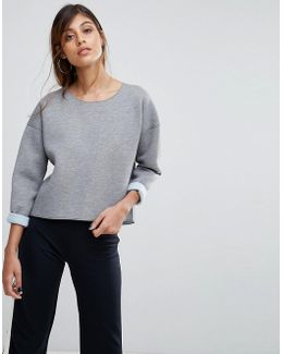 Zanzi Sweater With Pu Sleeves