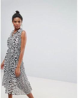Bloomsbury Print Pleated Midi Dress