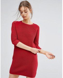 Mozart Ripple Knit Sweater Dress