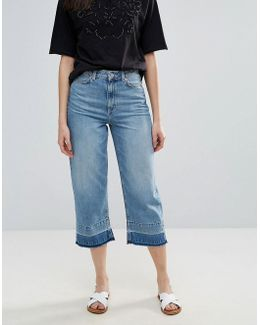 Detroit Cropped Wide Leg Jeans