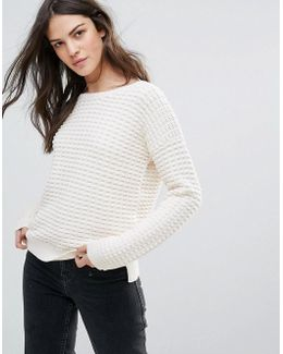 Mozart Popcorn Knit Sweater