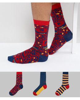 Socks 3 Pack Gift Set