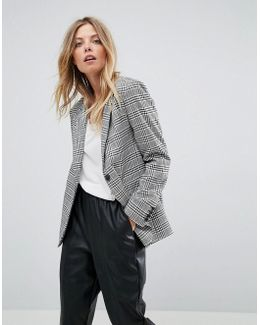 Tailored Clean Mansy Blazer In Check