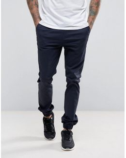 Skinny Woven Joggers In Navy