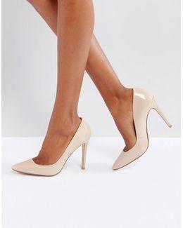 Aiyana Nude Leather Heeled Shoes