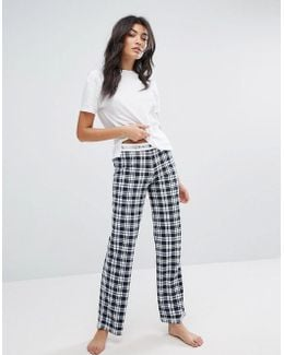 Cotton Iconic Jersey Print Pant