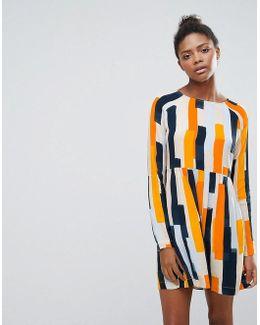 Abstract Print Shift Dress