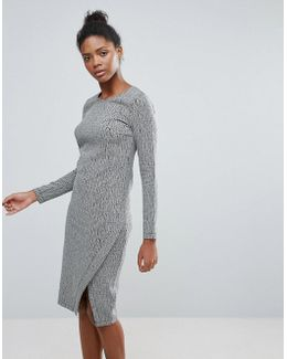 Long Sleeve Dress With Wrap Detail