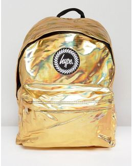Backpack In Gold Holographic