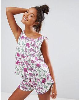 Pretty Pastel Floral Tank & Short Pajama Set