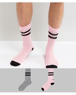 Sports Socks With Sassy Slogan Design 2 Pack