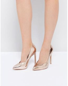 Walts Rose Gold Heeled Shoes
