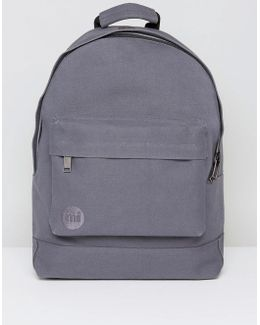 Canvas Backpack In Charcoal