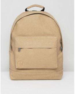 Canvas Backpack In Sand