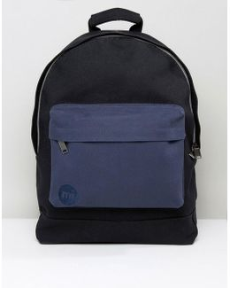Canvas Backpack In Black/navy