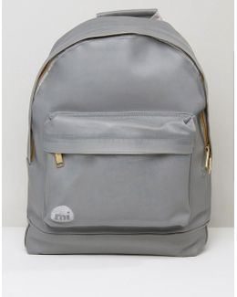 Rubber Backpack In Gray