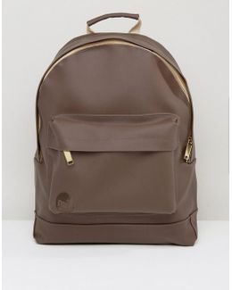Rubber Backpack In Brown