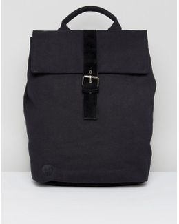 Canvas Backpack In Black