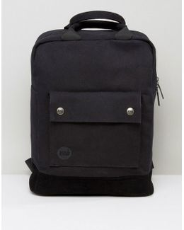 Canvas Tote Backpack In Black