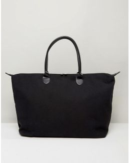 Canvas Weekend Bag In Black