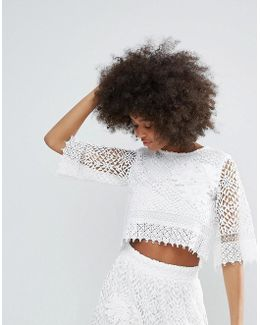 Crochet Lace Cropped Top