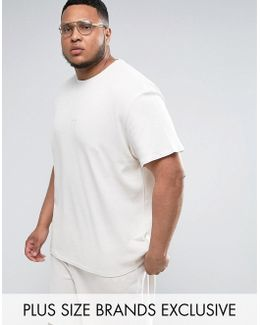 Plus Waffle Oversized T-shirt In Gray Exclusive To Asos