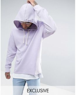 Waffle Oversized Hoodie In Purple Exclusive To Asos