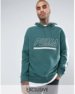Vintage Terry T7 Hoodie In Green Exclusive To Asos