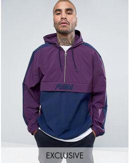Vintage Half-zip Jacket In Purple Exclusive To Asos