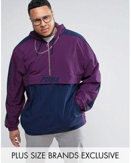 Plus Vintage Half-zip Jacket In Purple Exclusive To Asos