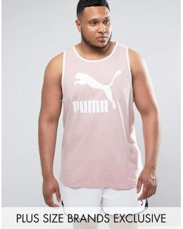Plus Jersey Vest In Pink Exclusive To Asos