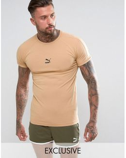 Muscle Fit T-shirt In Tan Exclusive To Asos