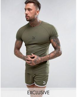 Muscle Fit T-shirt In Green Exclusive To Asos