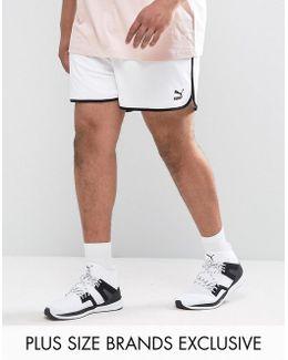 Plus Retro Mesh Shorts In White Exclusive To Asos