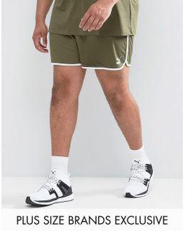 Plus Retro Mesh Shorts In Green Exclusive To Asos