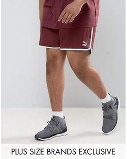 Plus Retro Mesh Shorts In Red Exclusive To Asos